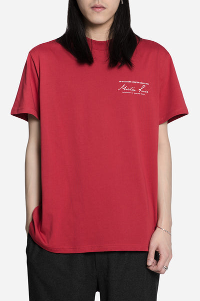 Martine Rose - Classic S/S Tee w Print Red/White