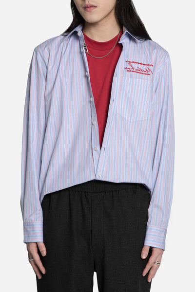 Martine Rose - Plain L/S Shirt w Embroidery Red/Blue
