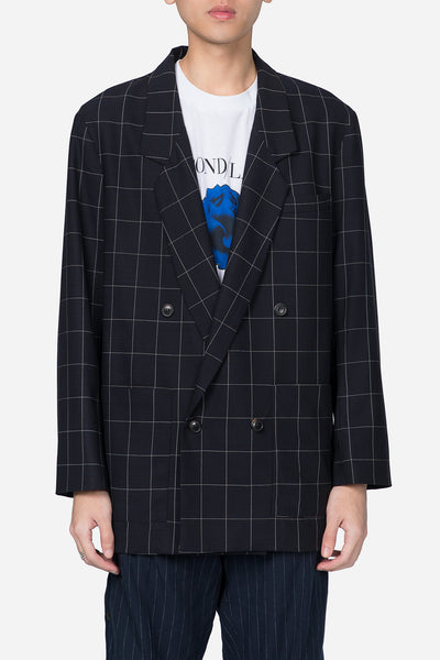 Second / Layer - Double Breasted Blazer B/W Check