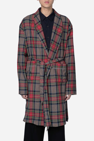 Fear of God - Wool Robe-Brown Plaid