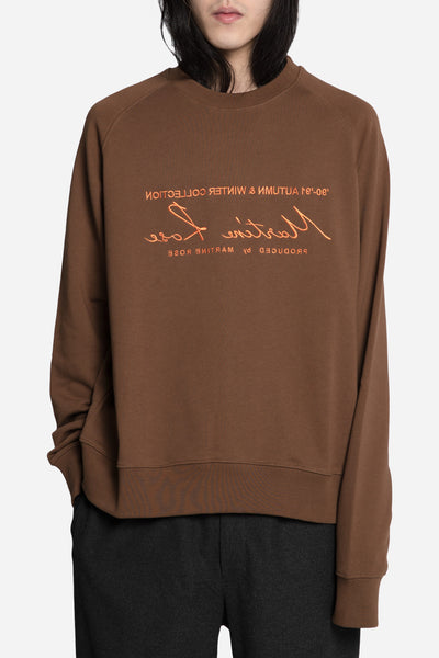Martine Rose - Classic Embroidered Sweatshirt Brown/Orange