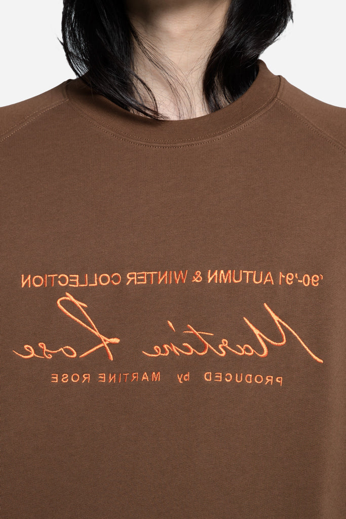 Classic Embroidered Sweatshirt Brown/Orange