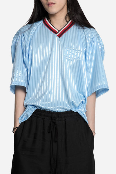 Martine Rose - Adjustble Football Shirt Blue