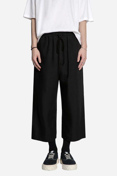 Song for the mute - Rayon Elasticiated Bucket Pant Black