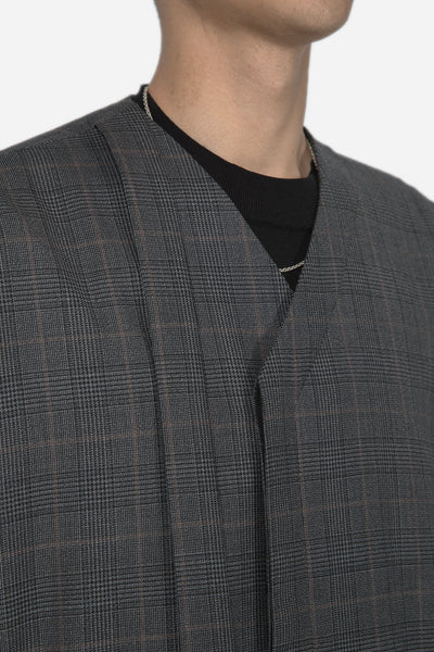 Coli Bomber Cardigan Grey Gold Check