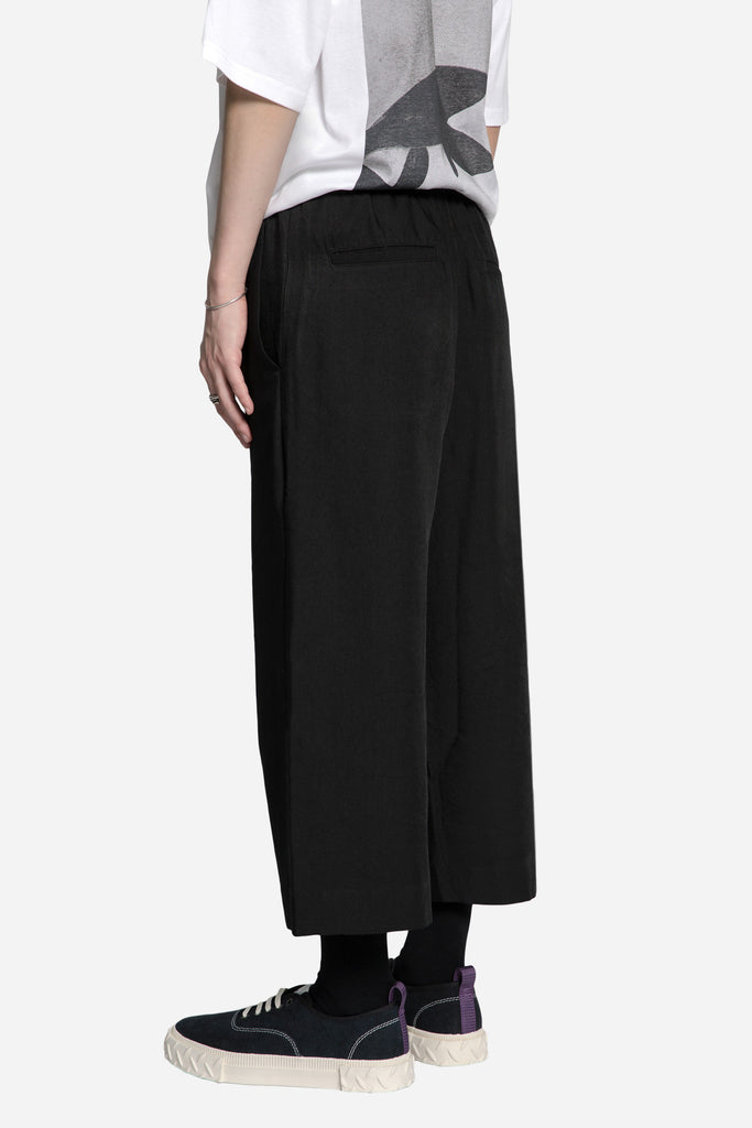 Rayon Elasticiated Bucket Pant Black