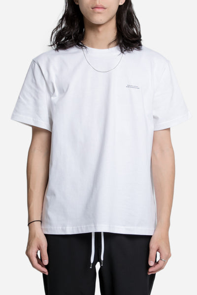 "Second / Layer - Mockneck Oversized ""She's Only"" Tee White"