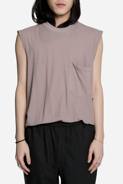 Song for the mute - 'Lover' Print Sleeveless Tee Lavender