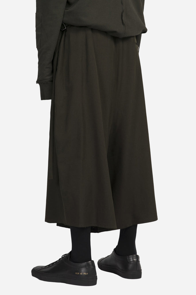 Pavlov Cropped Wide Pant Dark Moss