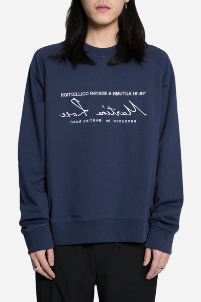 Martine Rose - Classic Embroidered Sweatshirt Navy/White