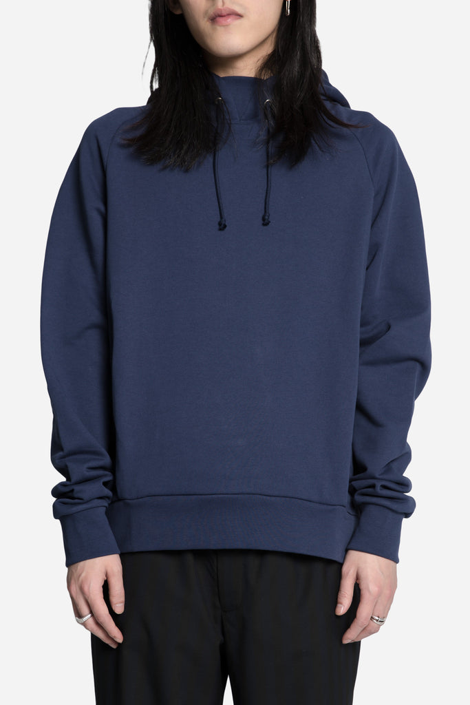 Classic Embroidered Hoodie Navy/White