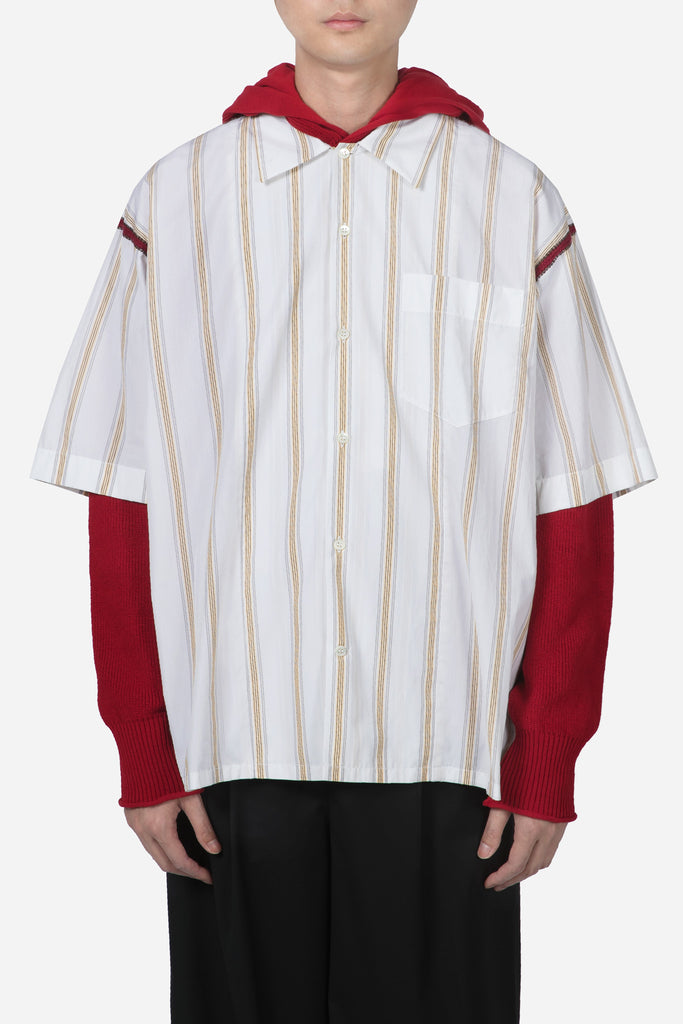 S/S Sport Shirt White Yellow