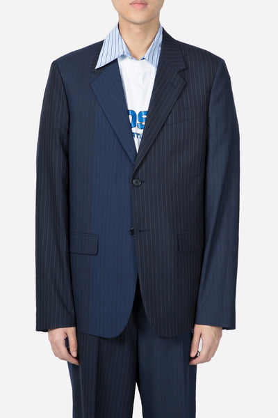 Marni - Pinstripe Suit Jacket Navy
