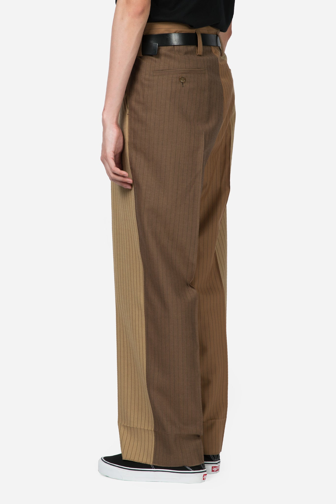 Pinstripe Trousers Camel