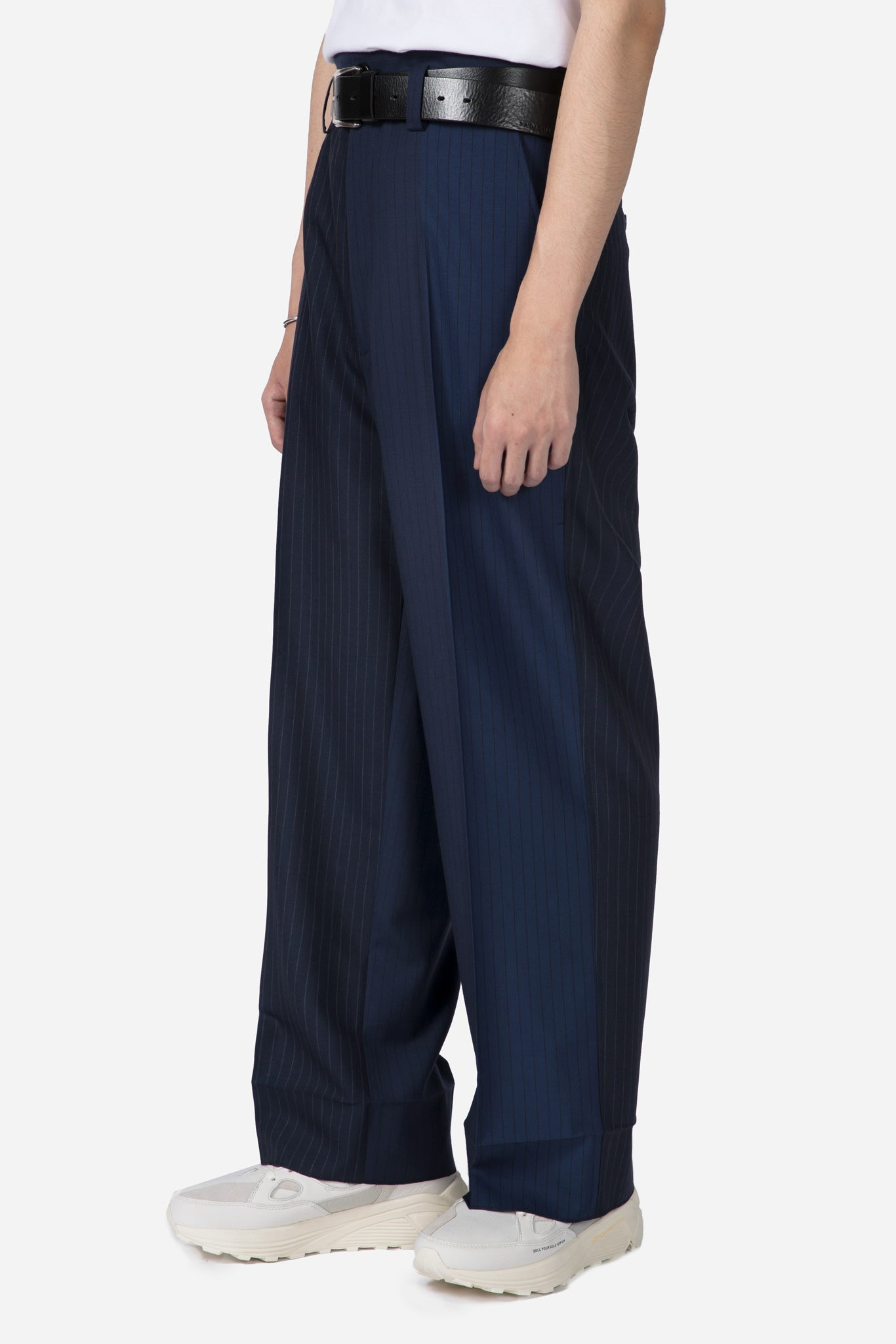 Pinstripe Trousers Navy