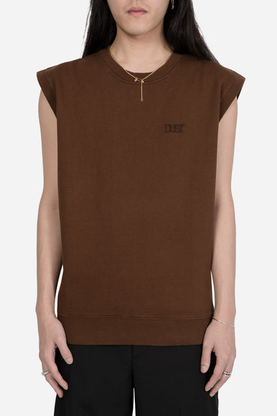 Dust - STYLE 5 OPT 1 Sweatshirt Vest Brown