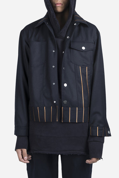 YellNow - Lou Cropped Jacket Nightfall Navy
