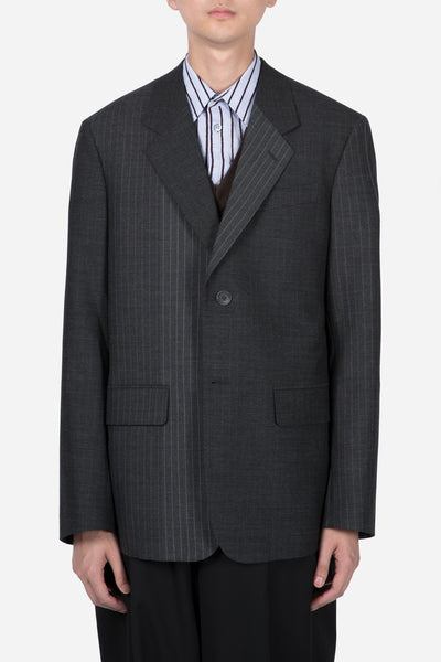 Marni - Pinstripe Suit Jacket Grey