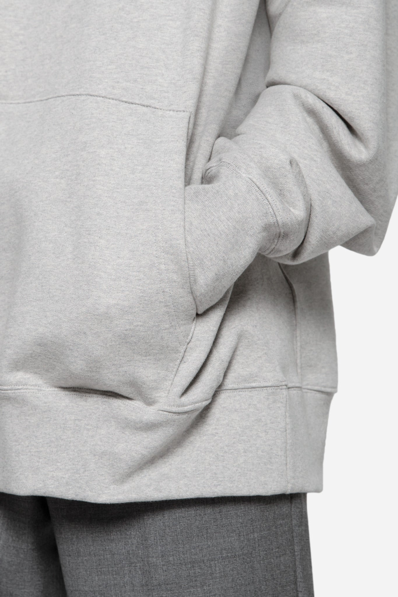 Empathy Embroidered Hoodie Grey