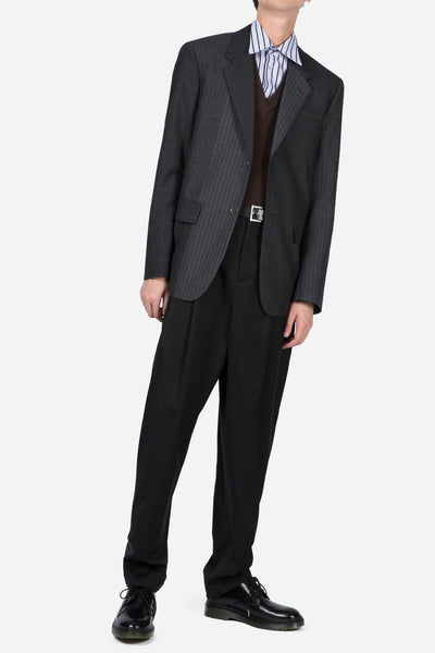 Pinstripe Suit Jacket Grey
