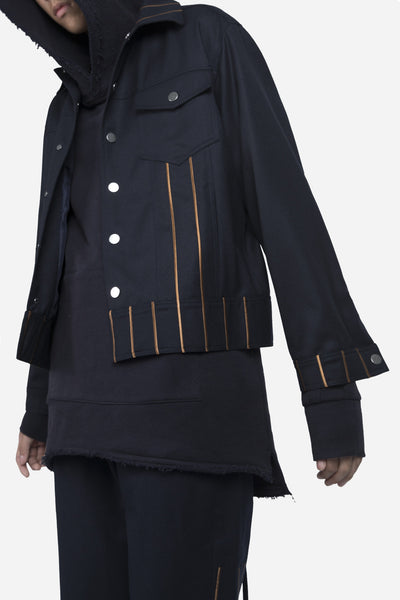 Lou Cropped Jacket Nightfall Navy