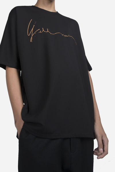 """YELLNOW"" Toussa Oversized Panel Tee Dry Onyx"