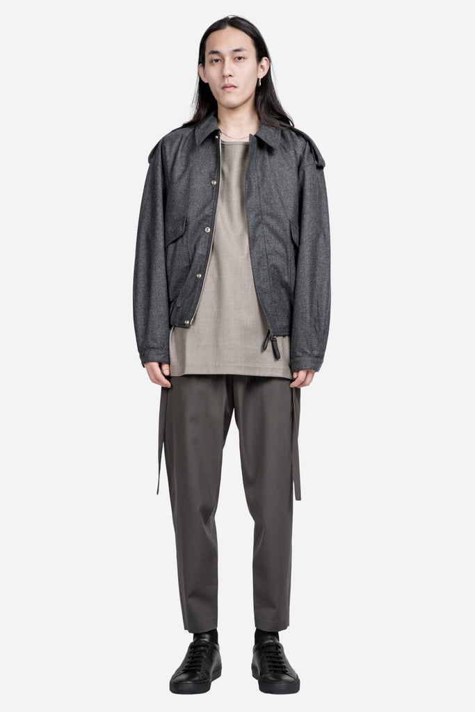 Bomber Jacket Cashmere Charcoal