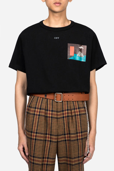 Off-White - Mini Door Tee SS Black Multicolor