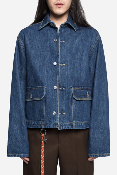 Our Legacy - Waist Jean Jacket Rinse Wash