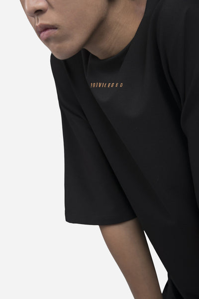 """PRIVLEDGED"" Toussa Oversized Panel Tee Dry Onyx"
