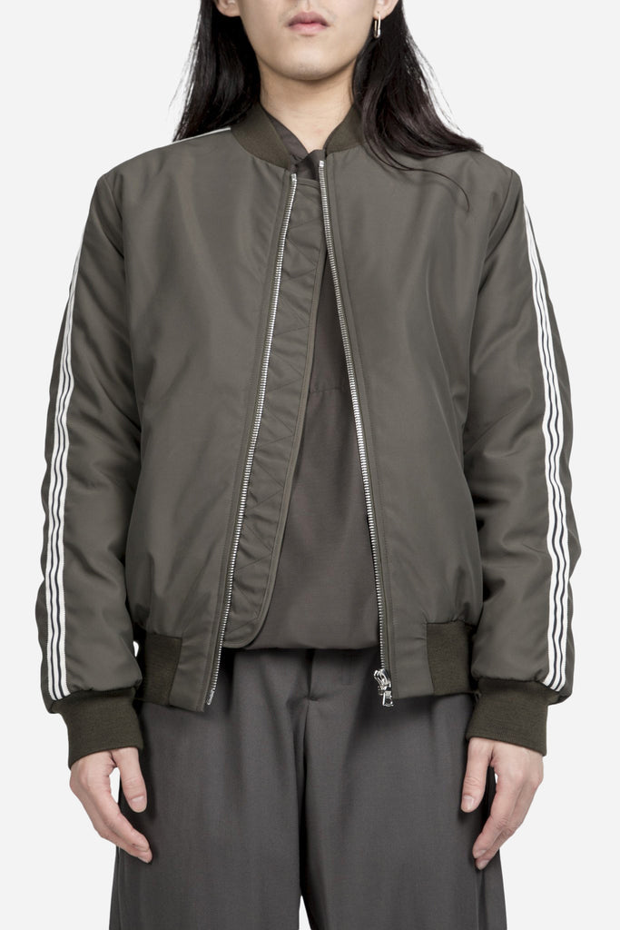 Mathys Striped Bomber Olive