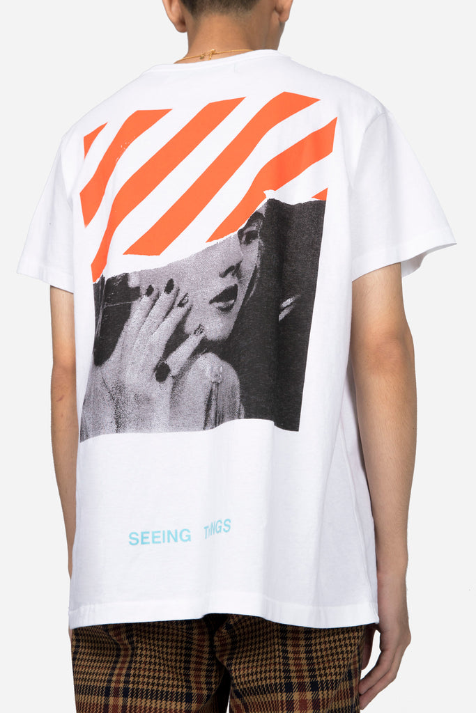 Photocopy T-shirt White Multicolor