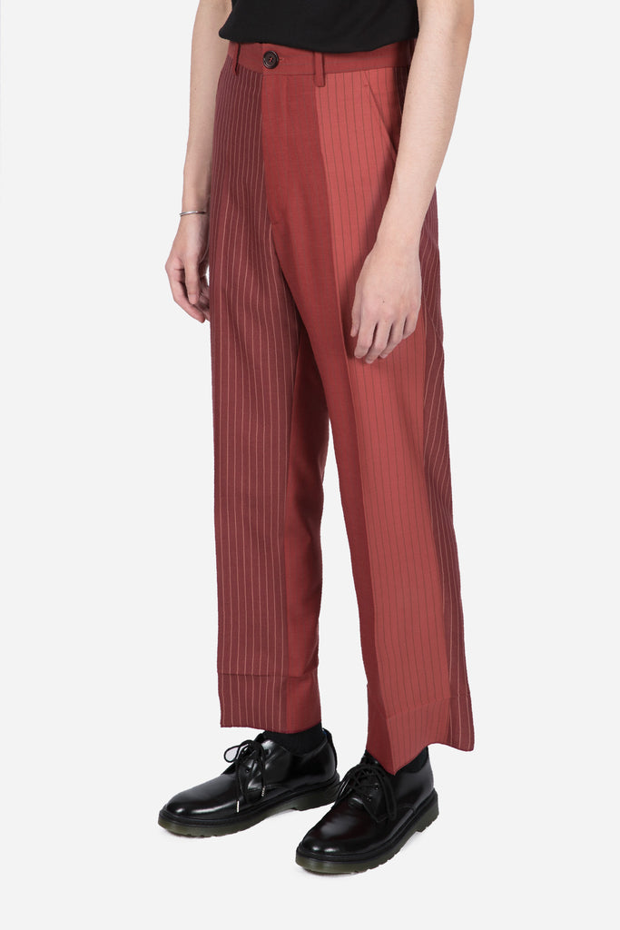 Pinstripe Trousers Red