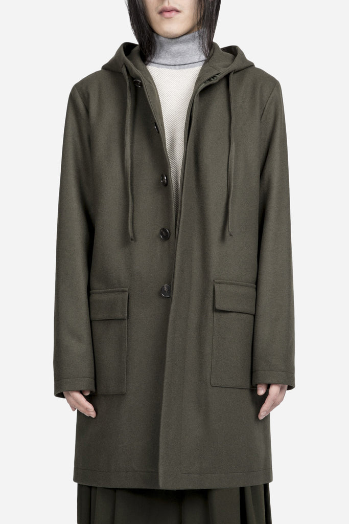 Mathieu Hooded Jacket Olive