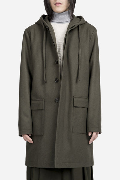Harmony - Mathieu Hooded Jacket Olive