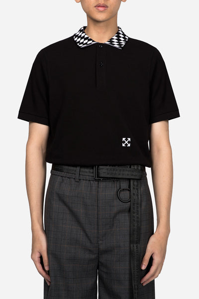 Off-White - Seeing Things Polo Black White