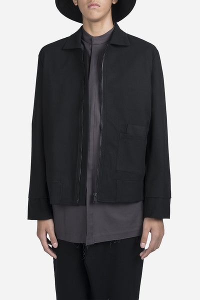 YellNow - Seth Cropped Jacket Dry Onyx