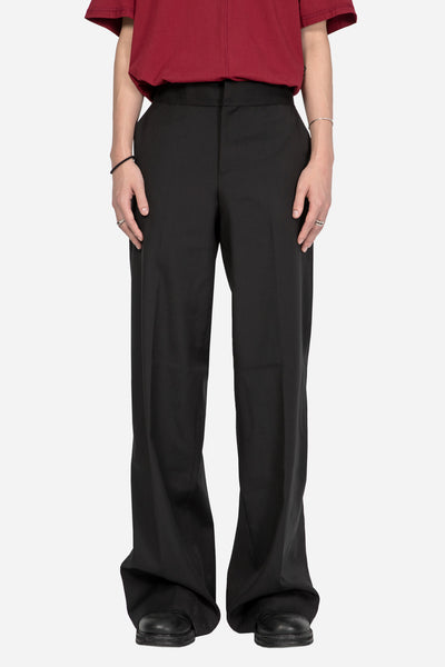 Yang Li - Low Rise Wide Trouser Black