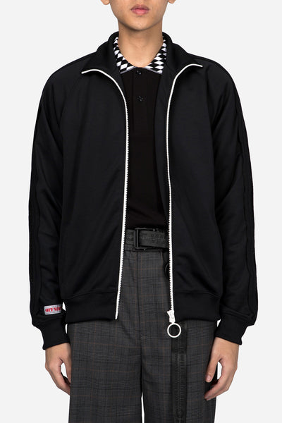 Off-White - Brushed Tracktop Black White