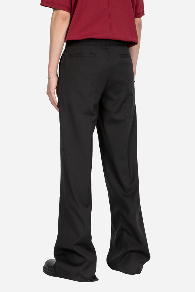 Low Rise Wide Trouser Black