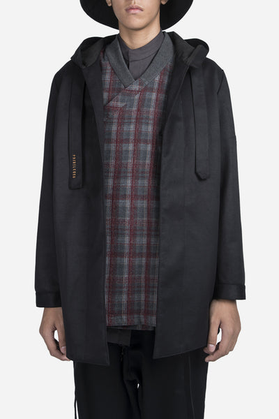 Necessity Sense - Norman Hooded Coat Dry Onyx