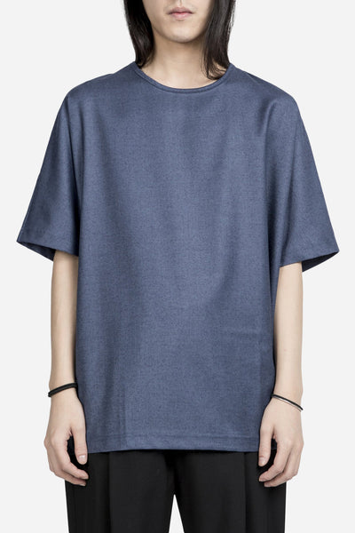 e. tautz - Boxy T-Shirt Denim Blue
