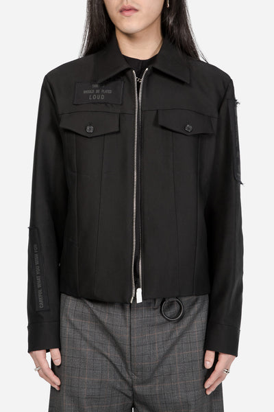 Yang Li - Blouson with Patches Black