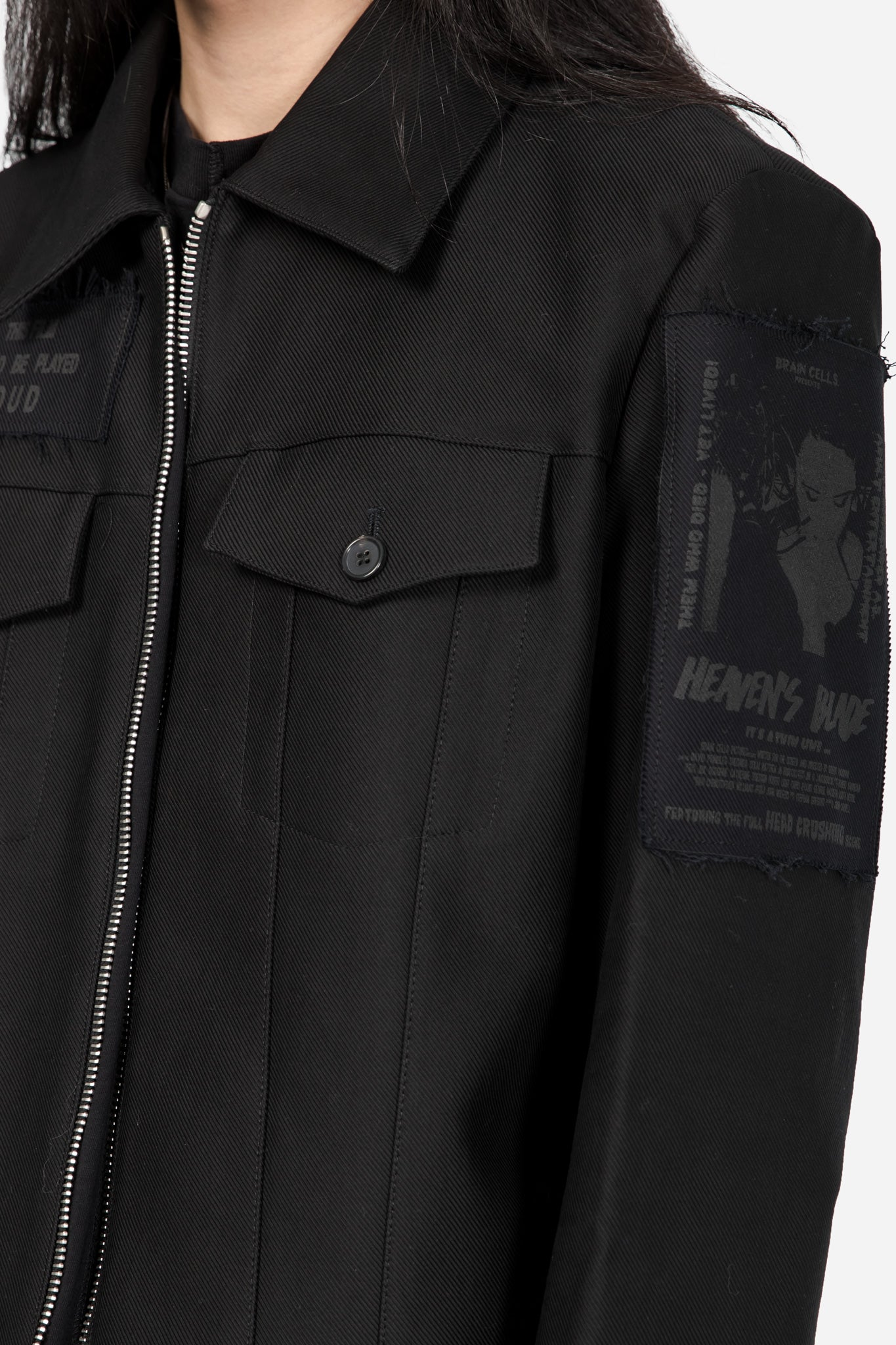 Blouson with Patches Black