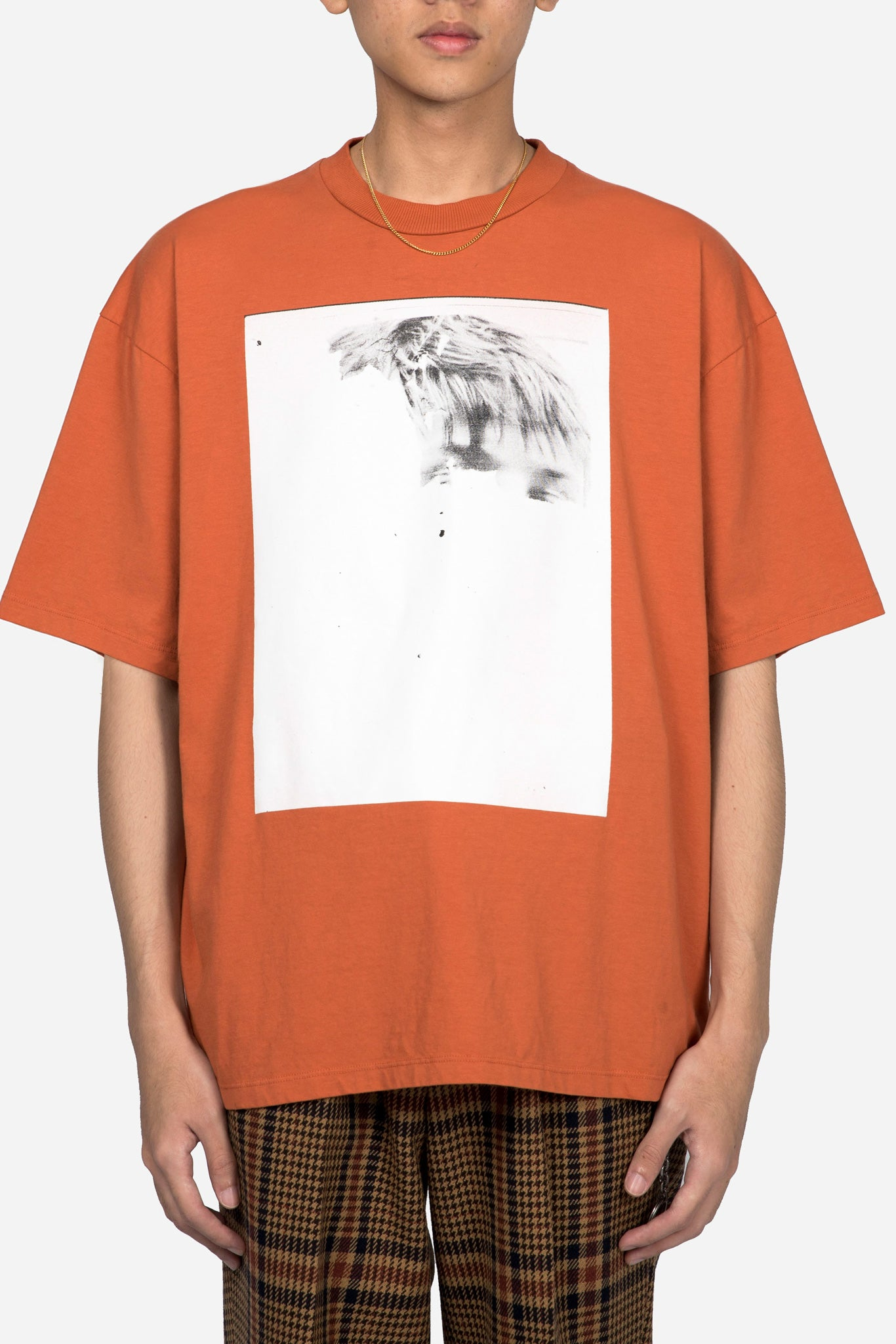 Jersey Darts T-shirt W/ Print 11 Half Face Orange