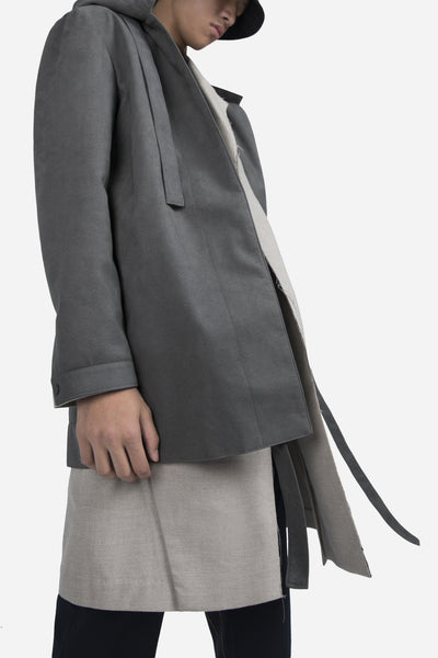 Norman Hooded Coat Cloud Grey