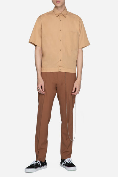 Short Sleeve Boxy Shirt Sand