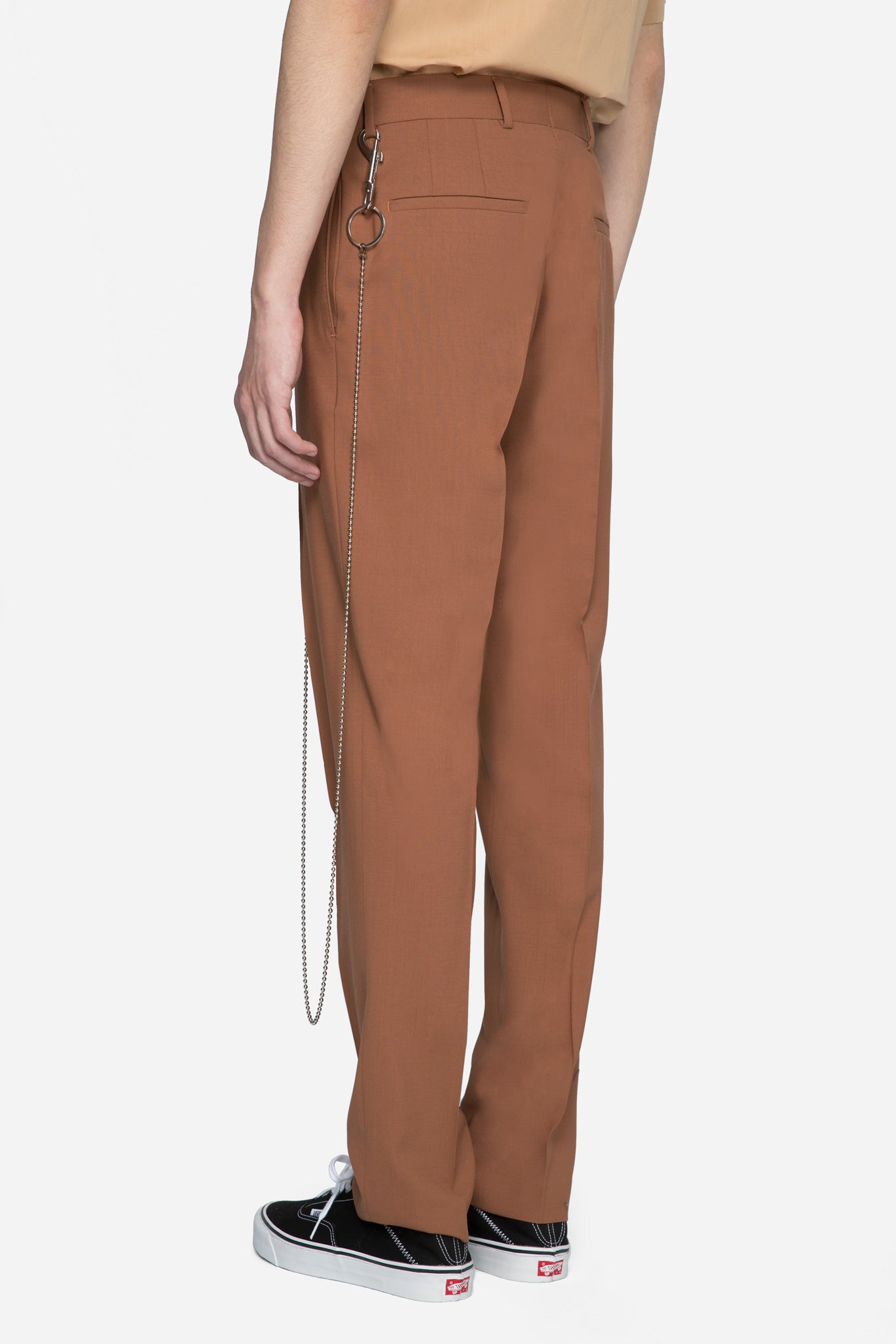 Tapered Trousers With Key Chain Soft Clay