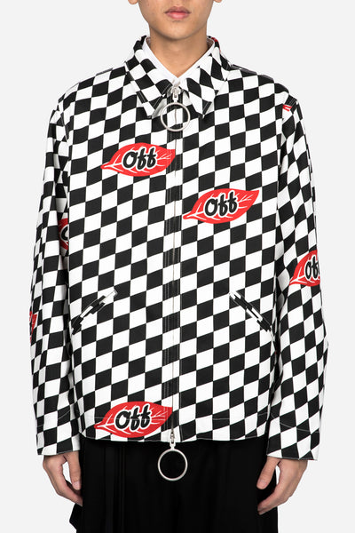 Off-White - Checker Leaf Work Jacket All Over No Color