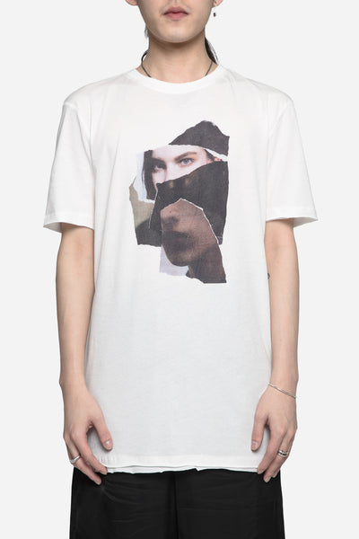 Damir Doma - Timor with Face Print Tee Light Granite
